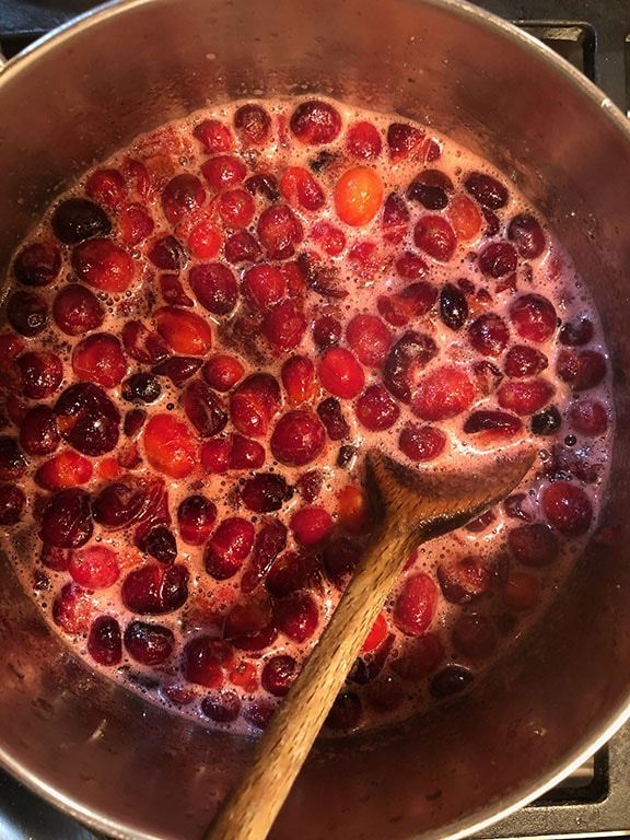 Cranberry Sauce Cooking